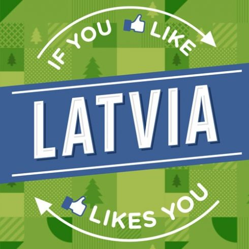 Latvijas Facebook logo