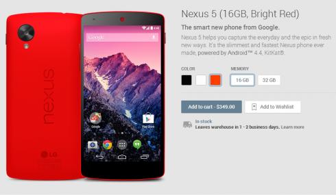 sarkanā krāsā nexus 5