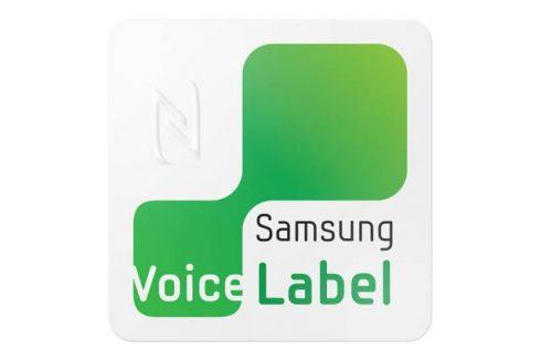 samsung voice label