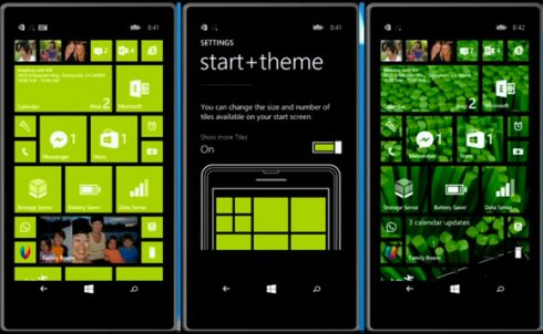 windows phone 8.1 start