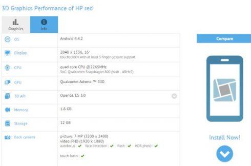 gfx benchmark HP Red
