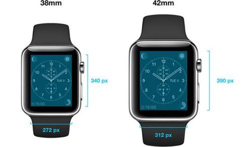 apple watch display properties