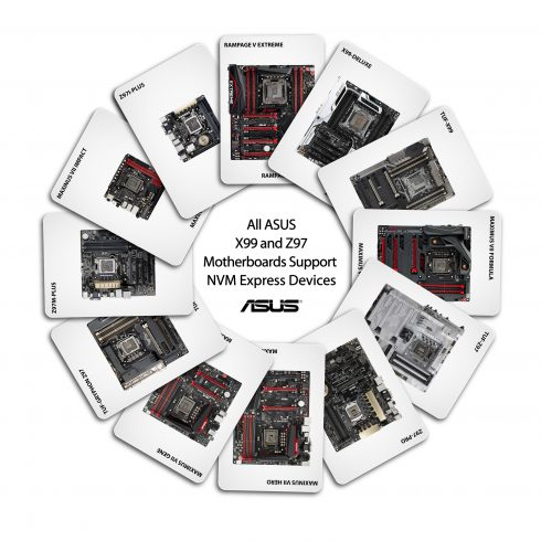 All ASUS X99 and Z97 motherboard support NVM Express