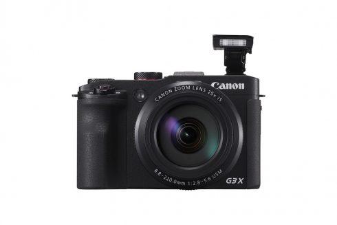 PowerShot G3 X BK FRT Flash Up