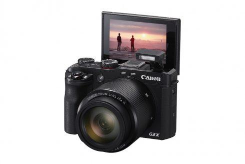 PowerShot G3 X BK FSL Flash Up LCD 180 degrees