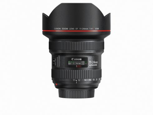 EF 11-24mm f4L USM Side with cap